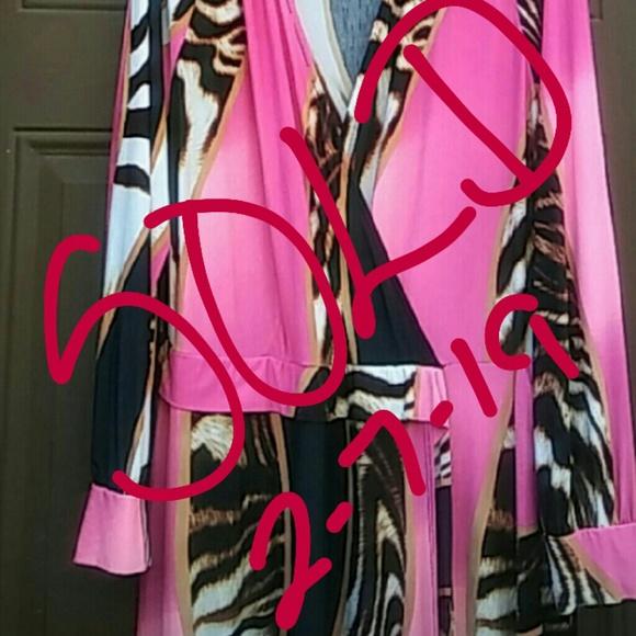 Good Time USA Dresses & Skirts - Long Animal Print Faux Wrap